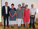 Bürgermeister Dirk Harscher, Eva Brutschin, Renate Briegert, Frank Strittmatter, Karin Bernbach, Gerhard Siebold