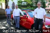 Bürgermeister Dirk Harscher, Steffen Hofmann, Andreas Lenz