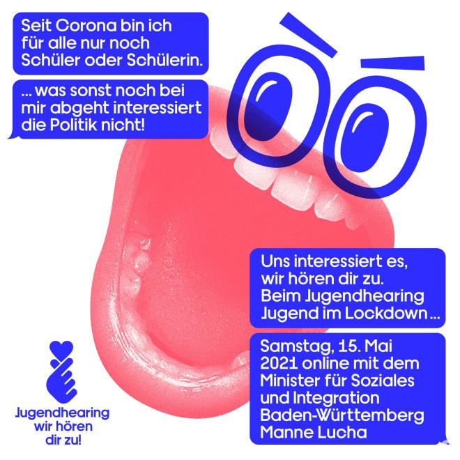 """Flyer """"Jugendhearing - wir hören dir zu"""""""