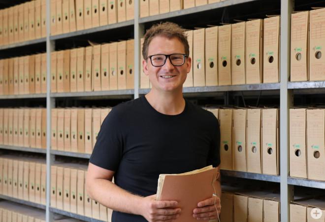 Stadtarchivar Johann Löwen verwaltet nun die Akten der Stadtverwaltung